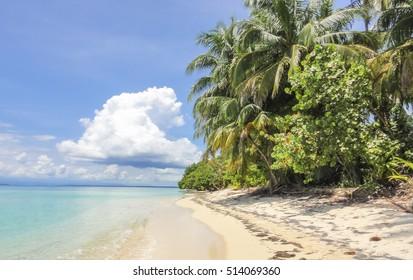 Romantic tropical islands in Caribbean sea. Panama. Central America