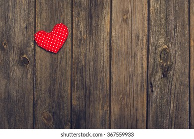 Romantic Valentines Love Background On An Old Wooden Rustic Table Photograph Taken From