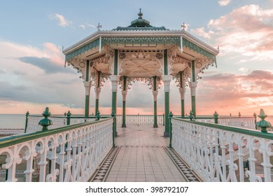 Romantic, Victorian Bandstand overlooking the sea in Brighton.  A popular venue for weddings.