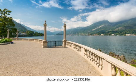 Romantic view at the gardens of Villa Melzi in September, Bellagio, Lake Como, Lombardy, Italy, Europe