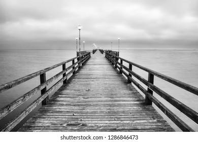 Romantic view of the pier