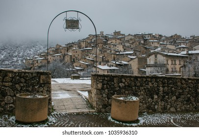 Romantic view of Scanno village in Abruzzo