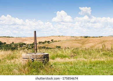 A romantic view of tuscany country in summer season, close to San Quirico