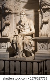 Rome, 13.11.2017 -  The Mosè is a marble sculpture (height 235 cm) of Michelangelo, datable to around 1513-1515, retouched in 1542 and preserved in the Basilica of San Pietro in Vincoli.