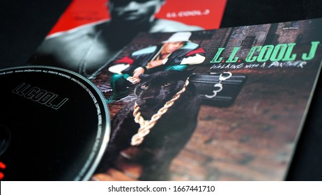 Rome, 15 February 2020: Covers of CD by American rapper and actor LL Cool J (James Todd Smith). Walking with a Panther from 1989 is considered one of the first crossover attempts in hip hop