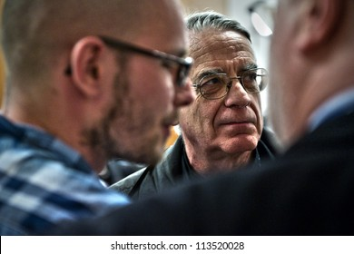 ROME- APRIL 2011 : Father Federico Lombardi, director of the Holy See Press Office,  prepares to meet members of the media at the Vatican Press Center, in Vatican City, on April 30, 2011.