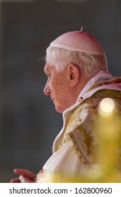 ROME - APRIL 2013: Pope Benedict XVI celebrating Easter Sunday Mass in St Peter's Square, Vatican City - 24th April 2011