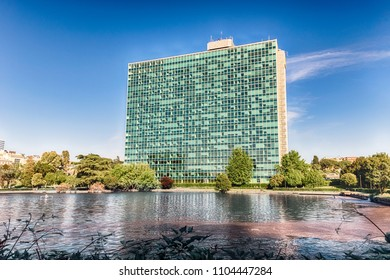 ROME - APRIL 25:  ENI headquarters in the EUR district of Rome, Italy, April 25, 2018. The Italian multinational oil and gas company is considered one of the global supermajors in the oil market