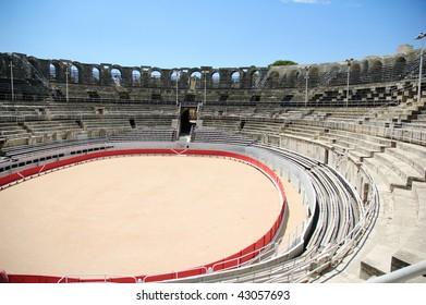 Rome arena in Arles in south France