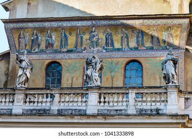 Rome. Art details along the streets of Trastevere