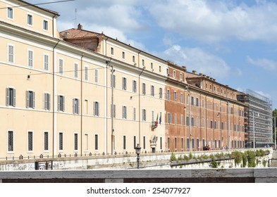 ROME - AUGUST 27, 2014: Architecture and buildings in Rome, Rome, Italy
