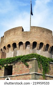 ROME - AUGUST 27, 2014: Facade of the Sant Angelo Castle in Rome, Italia