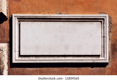 Rome, empty street sign - space for text -