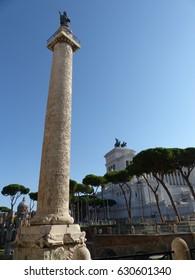 Rome / Forum Romanum / picture showing parts of the Forum Romanum in Rome, taken in August 2015.