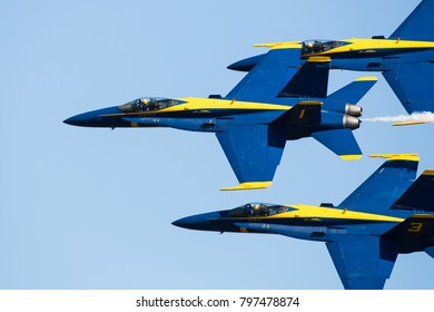 ROME, GA, USA - OCTOBER 20TH, 2017: US Navy flight demonstration squadron at the Wings Over North Georgia airshow.