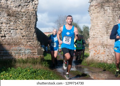 Rome, Ialy, january 6 2016 Athletes competing in Marathon of the Epiphany in Rome, Italy