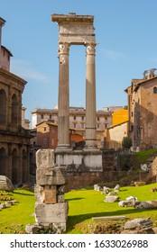ROME, ITALY 01 27 2020: Theatre of Marcellus (Teatro di Marcello) area in Rome, Italy