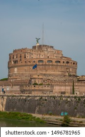 Rome, Italy - 09-01-2019: Castel Sant'Angelo  in Rome