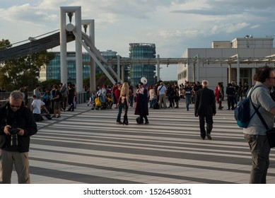 Rome, Italy - 10-05-2019: People at the Romics in October