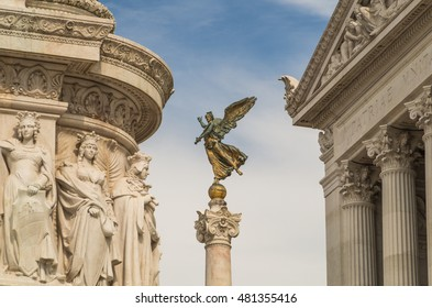 Rome Italy 12 May 2014 Rome is a city filled with many beautiful historical statues and sculptures