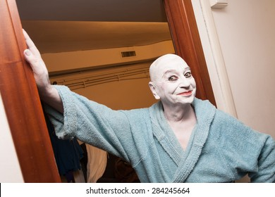 "ROME, ITALY - 13 March, 2015 - Lindsay Kemp after his show ""Inventions and Reincarnations"" in Rome."