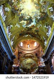 Rome / Italy - 16 Jul 2011: The ancient church in Rome, Italy
