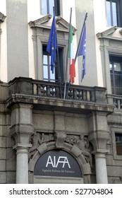 ROME, ITALY - 17 OCTOBER 2016: AIFA Italian Medicines Agency headquarters in Rome Italy