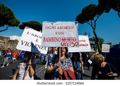 Rome Italy, 19th May 2018: On a glorious sunny day, thousands gathered together in Rome for the 13th Annual March for Life.