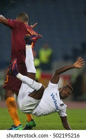 Rome, Italy 20 OCTOBER, 2016: Kayode in action during the  Uefa  league match between A.s. Roma vs Austria Vienna at Olympic Stadium in Rome on october,  2016.