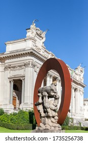 ROME, ITALY - 2014 AUGUST 17. Front view of Galleria Nazionale d'Arte Moderna in Rome.
