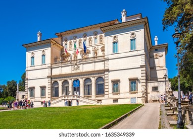 Rome, Italy - 2019/06/16: Borghese Museum and Gallery - Galleria Borghese - art gallery  within the Villa Borghese park complex in the historic quarter Pinciano in Rome