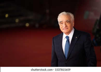 """Rome Italy. 21 October 2019. Martin Scorsese attends the """"The Irishman"""" red carpet during the 14th Rome Film Festival."""