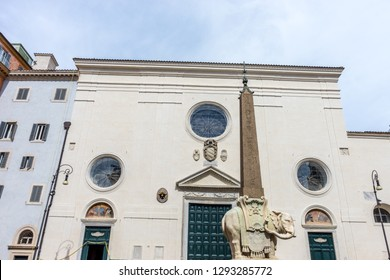 Rome, Italy - 24 june 2018: Santa Maria Sopra Minerva  in Rome, Italy