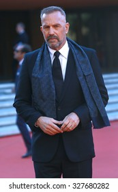 ROME, ITALY - 24 October 2014: The actor Kevin Costner: Red carpet at the Rome Film Fest