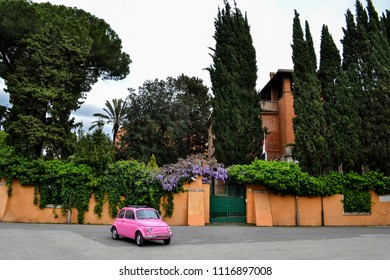 Rome, Italy - April 10, 2018: Famous ancient town Rome