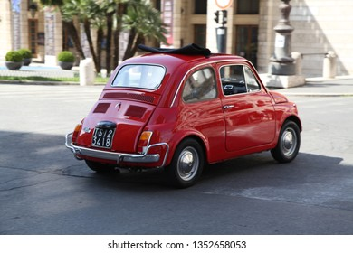 Rome / Italy - April 14 2016: Fiat 126 in the streets of Rome