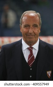 ROME, ITALY - APRIL 2016 : Ventura (torino coach) during fotball match  serie A  League 2015/2016 between A.s. Roma  vs Torino  at the Olimpic Stadium  on April 20, 2016 in Rome.