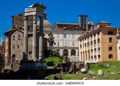 ROME, ITALY - APRIL, 2018: Temple of Apollo Sosianus a Roman temple dedicated to Apollo in the Campus Martius