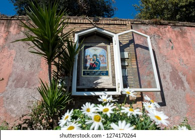Rome, Italy, April 21, 2017: Aedicula Our Lady of Perpetual Succour