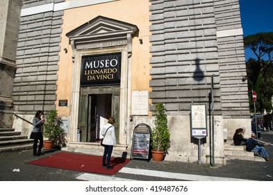 ROME, ITALY - APRIL 25:  Museo Leonardo Da Vinci at Piazza del Popolo in the center of Rome, Italy on April 25, 2016