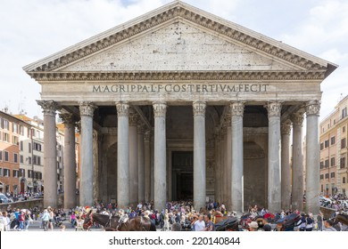 Rome, Italy - April 28, 2012:  Pantheon in Rome.