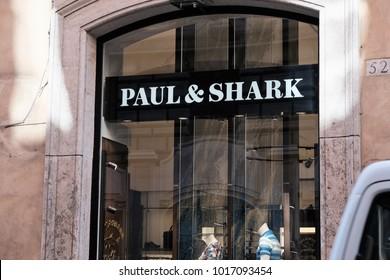 Rome, Italy - August 15, 2017: Paul & Shark store. Paul and Shark is an Italian clothing brand