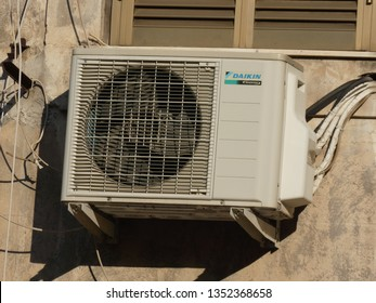 Rome, Italy - August 2, 2018: Daikin air conditioner. Daikin Industries, Ltd. is a Japanese multinational air conditioning manufacturing company