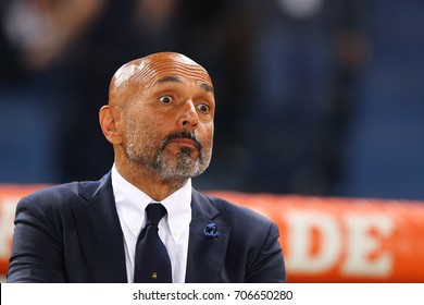 ROME, ITALY - AUGUST 26,2017: Luciano Spalletti coach of Inter during fotball match serie A League 2017/2018 between AS Roma vs Inter at the Olimpic Stadium on August 20, 2017 in Rome.