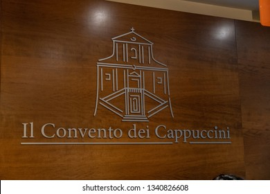 Rome, Italy - August 9, 2018: The Monastery of the Friars Minor Capuchin (Convento dei Frati Minori Cappuccini) of Via Veneto, crypt decorated with the skulls and bones of thousands of Capuchin monks