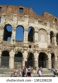 ROME, ITALY - CIRCA AUGUST 2011: Colosseum (Colosseo) aka Coliseum