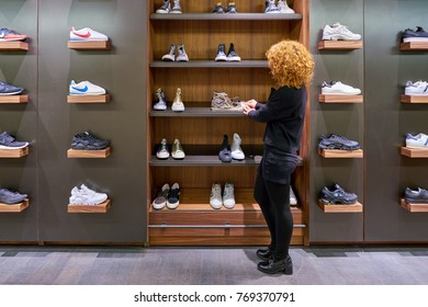 ROME, ITALY - CIRCA NOVEMBER, 2017: seller at a second flagship store of Rinascente in Rome.