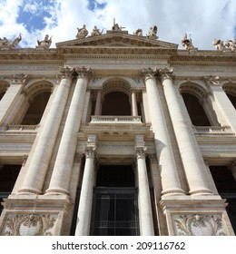 Rome, Italy - famous Papal Archbasilica of St. John Lateran, officially the cathedral of Rome. Square composition.