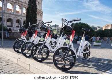 Rome, Italy, Feb 12th 2020, Helbiz provides powerful micromobility solutions for urban areas around the world in two wheels