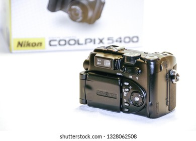 Rome, Italy - Februar 05, 2008: Digital bridge camera with box in background from 2000s decade